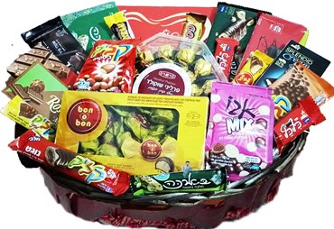 A basket of perfectly kosher chocolates